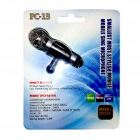 OP-260 Мини микрофон для телефона SMALLEST MOST STYLISH MOBILE SING MICROPHONE PS-13